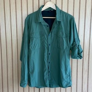Vintage North Face Olive green button down